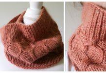 Honeycomb Cowl Free Knitting Patterns