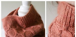 Honeycomb Cowl Free Knitting Patterns