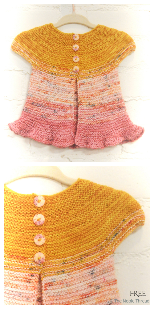 Easy Rosebud Baby Cardigan Free Knitting Pattern