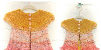 Easy Rosebud Baby Cardigan Free Knitting Pattern