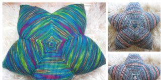 Knit Star Pillow Free Knitting Patterns