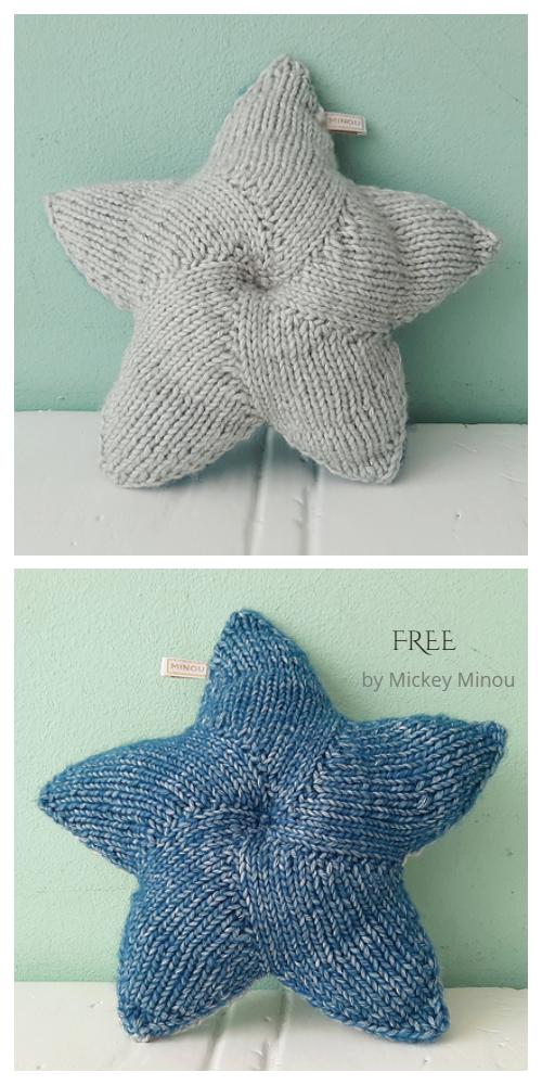 Knit Twinkle Star Pillow Free Knitting Pattern