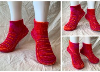 Moccasin Slippers Free Knitting Pattern