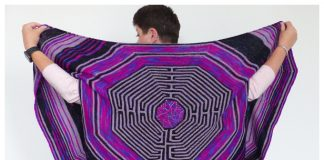 Labyrinth Rectangle Shawl Free Knitting Pattern