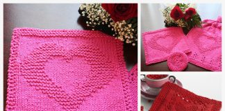 Square Heart Dishcloth Free Knitting Patterns