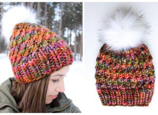 The Phoenix Chunky Beanie Hat Free Knitting Pattern