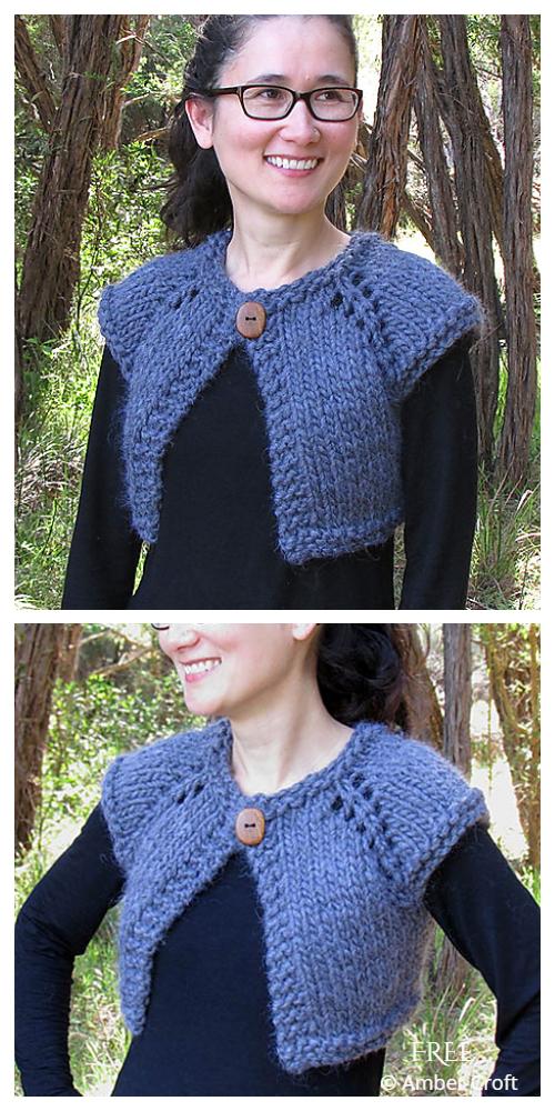 Cozy Crop Cardi Free Knitting Patterns