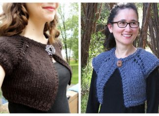Women Bolero Cardi Free Knitting Patterns