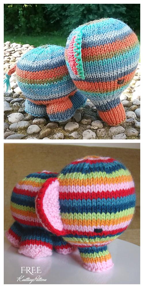 Amigurumi Baby Elephant Free Knitting Patterns