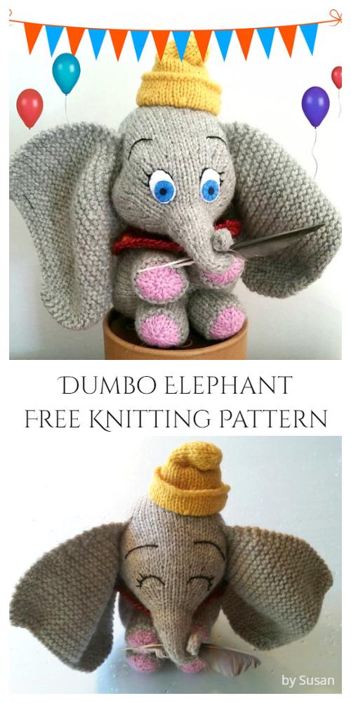Amigurumi Baby Elephant Dumbo Free Knitting Patterns