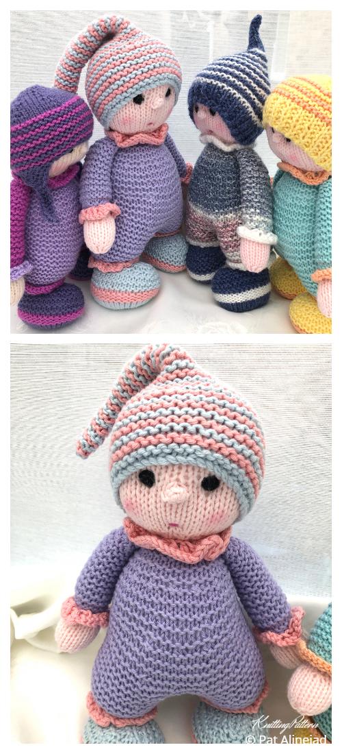 Amigurumi My First Cuddly Doll Knitting Patterns