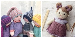 Amigurumi Cuddly Yarn Doll Knitting Patterns