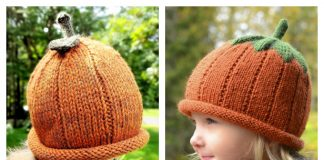 Pumpkin Hat Free Knitting Patterns