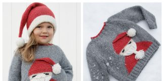 Christmas Santa Sweater Free Knitting Patterns