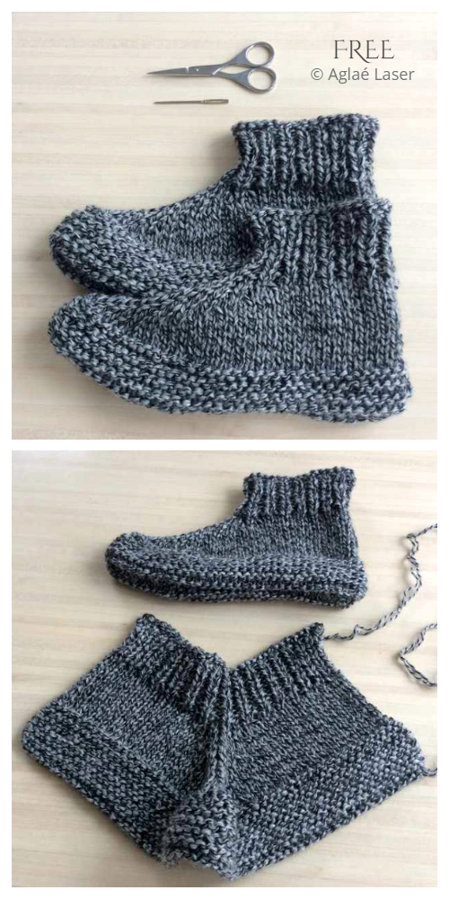 One Piece Adult Cozy Toes Slippers Free Knitting Patterns