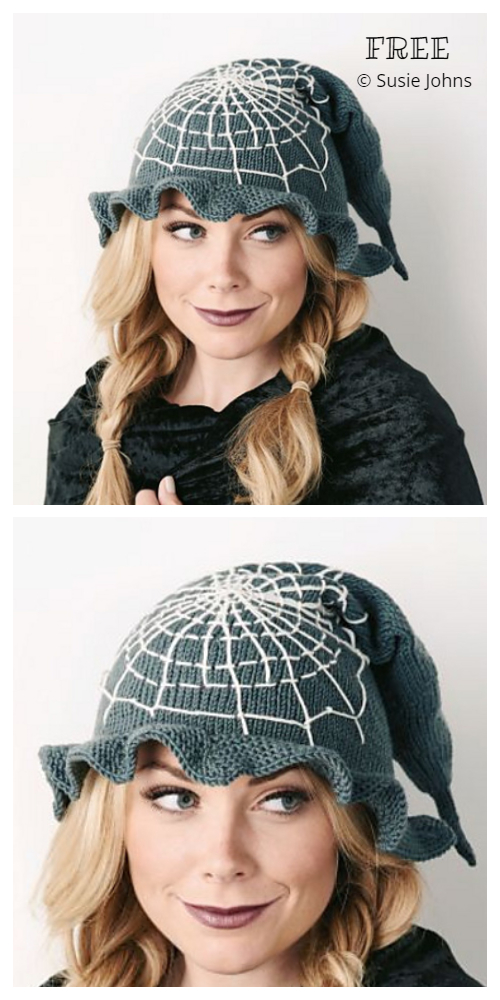 Halloween Witch Hat Free Knitting Patterns