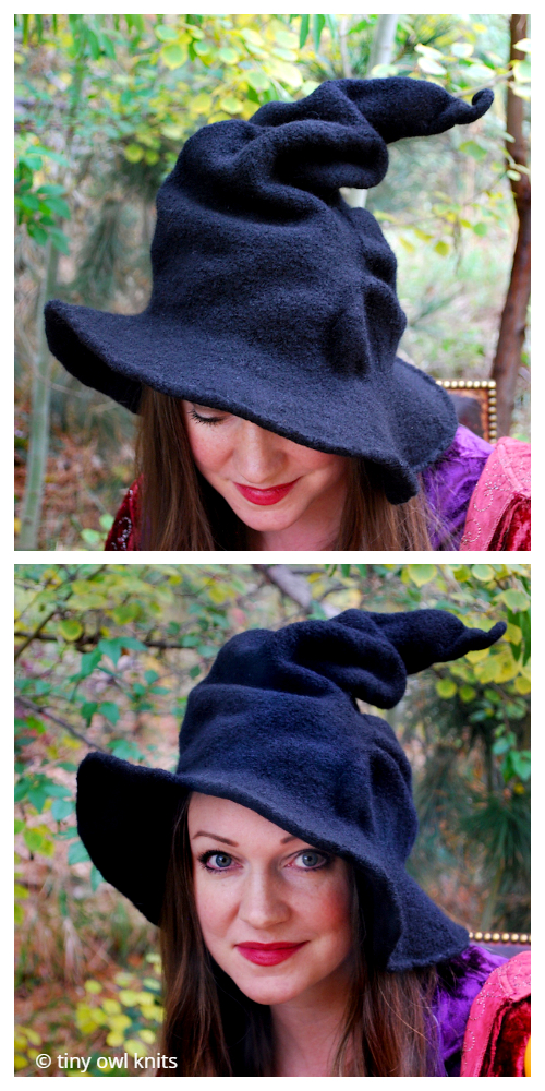 Halloween Adult Witch Hat Knitting Patterns
