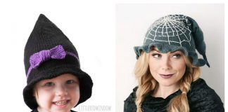 Halloween Witch Hat Free Knitting Patterns & Paid