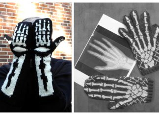 Halloween Skeleton Gloves Free Knitting Patterns
