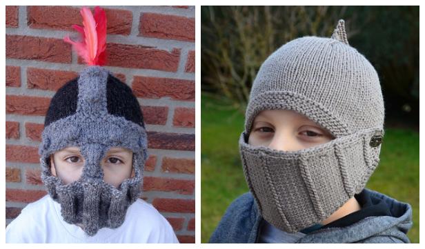 Knit Knight Helmet Free Knitting Patterns - Knitting Pattern