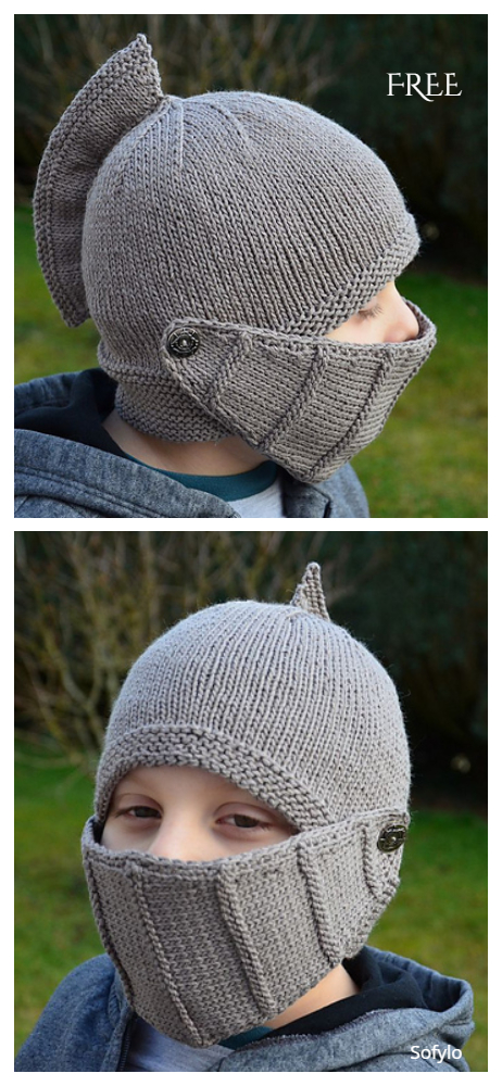 Knit Easy Knight Helmet Free Knitting Patterns