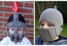 Knit Knight Helmet Free Knitting Patterns