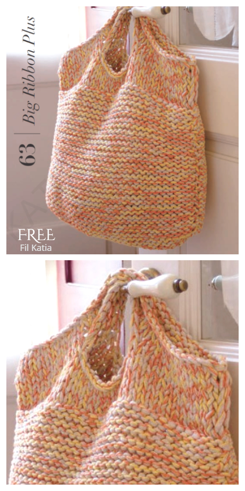 Knit Easy Bag Free Knitting Pattern