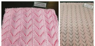Knit Angel Baby Lace Blanket Free Knitting Pattern