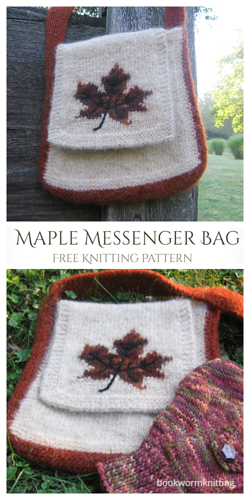 Knit Maple Messenger Bag Free Knitting Patterns