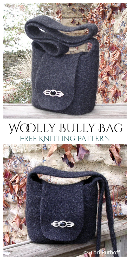 Knit Woolly Bully Bag Free Knitting Patterns