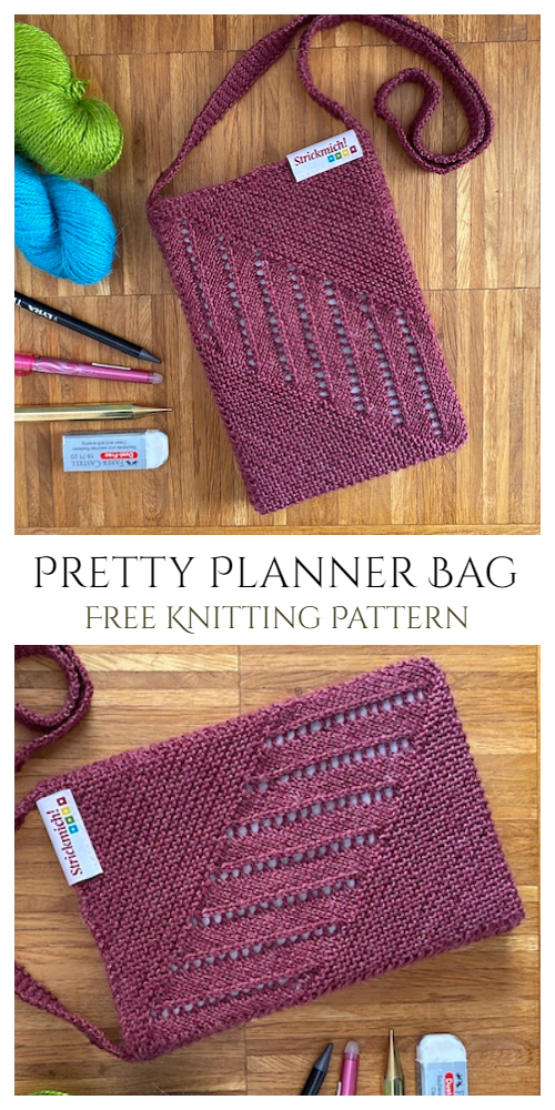 Knit Pretty Planner Bag Free Knitting Patterns