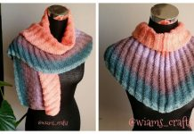Knit Ribbed Shawlette Free Knitting Pattern