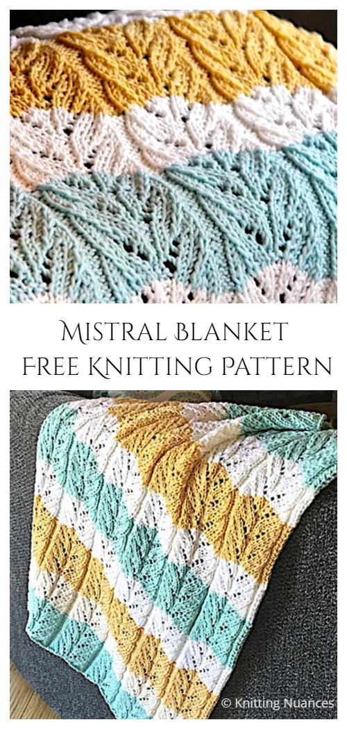 Mistral Blanket Free Knitting Pattern