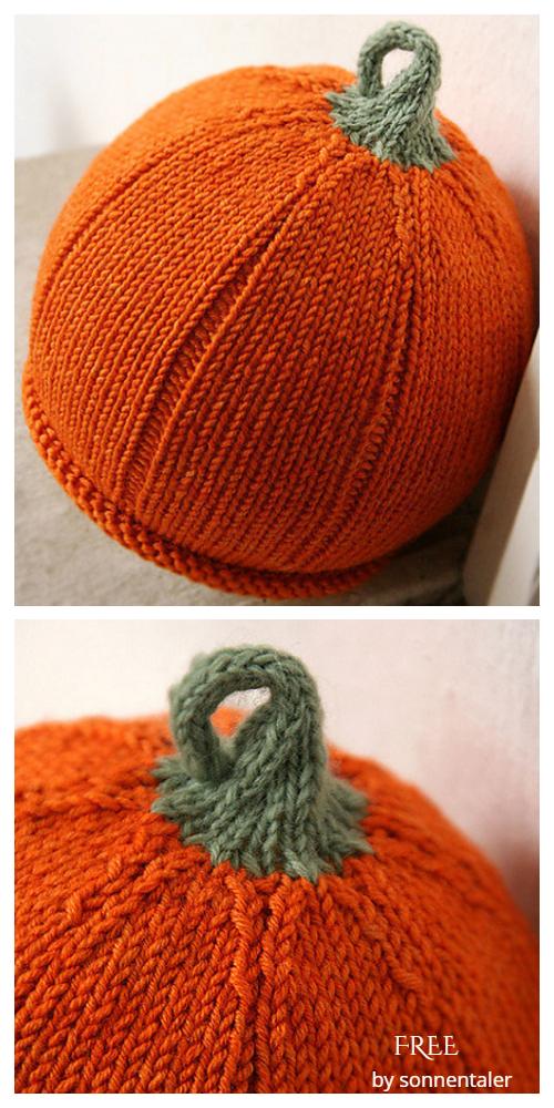 Cutie Pumpkin Hat Free Knitting Patterns