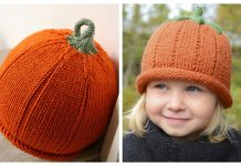 Pumpkin Hat Free Knitting Patterns