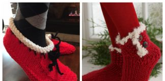 Christmas Slippers Free Knitting Patterns
