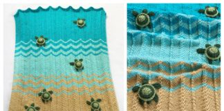 Sea Turtle Blanket Knitting PatternSea Turtle Blanket Knitting Pattern