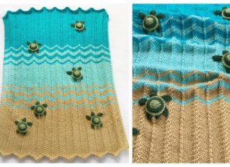 Sea Turtle Blanket Knitting PatternSea Turtle Blanket Knitting Pattern