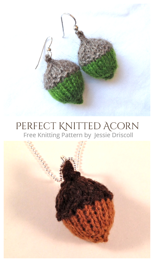 Perfect Knitted Acorn Free Knitting Patterns