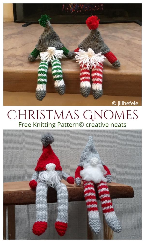 Amigurumi Christmas Gnome Free Knitting Patterns