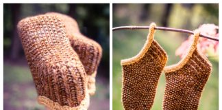 Acorn Slipper Sock Free Knitting Pattern