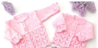 Blossom Baby Cardigan Free Knitting Pattern