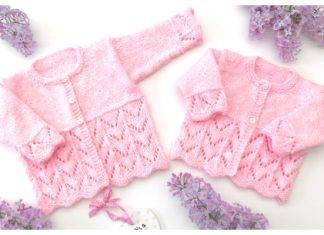 Blossom Baby Cardigan Free Knitting Pattern