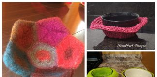 Bowl Cozy Hot Pad Free Knitting Patterns