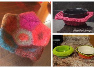 Bowl Cozy Hot Pad Free Knitting Patterns