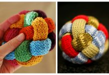 Knit Braided Ball Free Knitting Pattern