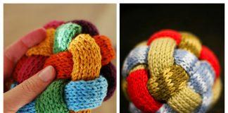 Knit Braided Ball Free Knitting Pattern