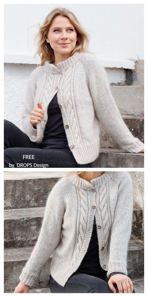 Herringbone Hill Jacket Free Knitting Patterns