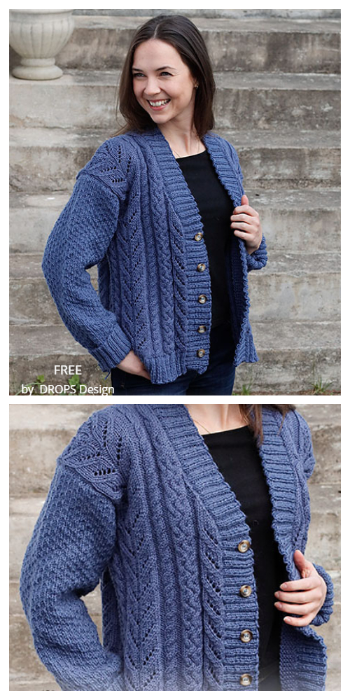Cabled Concerto Cardigan Free Knitting Patterns