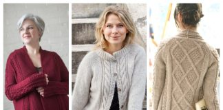 Women Cable Sweater Cardigan Free Knitting Patterns